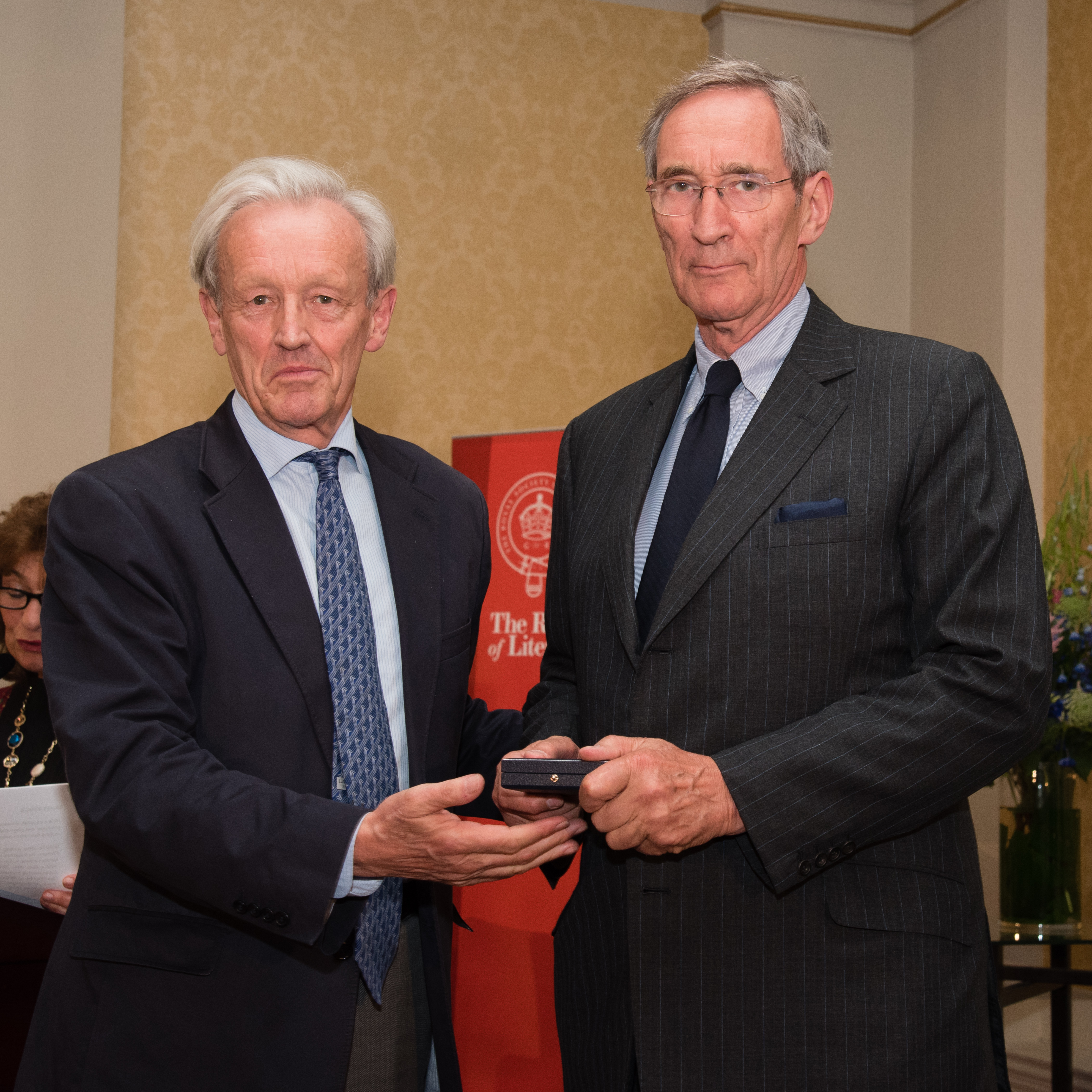 Christopher Maclehose receives the Benson Medal